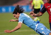 Napoli 07/04/2013 - Campionato  Serie A 2012/2013 .Incontro  Napoli - Genoa.Nella Foto   Edinson Cavani.Foto Ciro De Luca\