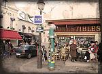 outdoor cafe Montmartre