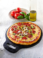 Italian pepperoni Pizza photos. Funky Stock pizzas photos