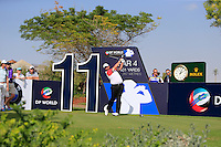 Shane Lowry (IRL) on the 11th tee during the preview for the DP World Tour Championship at the Earth course,  Jumeirah Golf Estates in Dubai, UAE,  18/11/2015.<br /> Picture: Golffile | Thos Caffrey<br /> <br /> All photo usage must carry mandatory copyright credit (© Golffile | Thos Caffrey)
