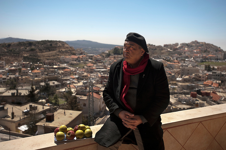 Salman Fakhr Eddin, a human-rights and anti-Assad activist, at the Druze village of Majdal Shams, Golan Heights.