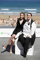 "Actresses Carolina Bang (L) and Terele Pavez posse during the presentation of ""Las brujas de Zugarramurdi"" in the 61 San Sebastian Film Festival, in San Sebastian, Spain. September 22, 2013. (ALTERPHOTOS/Victor Blanco) /NortePhoto"