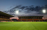 General view as the sun sets after the 2017/18 Pre Season Friendly match between Barnet and Swansea City at The Hive, London, England on 12 July 2017. Photo by Andy Rowland.