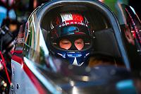 May 4, 2018; Commerce, GA, USA; NHRA top fuel driver Steve Torrence during qualifying for the Southern Nationals at Atlanta Dragway. Mandatory Credit: Mark J. Rebilas-USA TODAY Sports