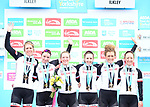 Team Sunweb win the team classification at the end of Stage 2 of the Asda Womens Tour de Yorkshire 2018 running from Barnsley to Ikley, England. 4th May 2018.<br /> Picture: ASO/Alex Broadway | Cyclefile<br /> <br /> <br /> All photos usage must carry mandatory copyright credit (&copy; Cyclefile | ASO/Alex Broadway)