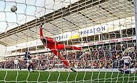 Preston North End's Tom Barkhuizen scores his side's third goal <br /> <br /> Photographer Alex Dodd/CameraSport<br /> <br /> The EFL Sky Bet Championship - Preston North End v Blackburn Rovers - Saturday 26th October 2019 - Deepdale Stadium - Preston<br /> <br /> World Copyright © 2019 CameraSport. All rights reserved. 43 Linden Ave. Countesthorpe. Leicester. England. LE8 5PG - Tel: +44 (0) 116 277 4147 - admin@camerasport.com - www.camerasport.com