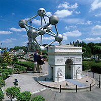 Belgium, Province Brabant, Brussels: Bruparck, Mini-Europe. Models of famous European landmarks | Belgien, Provinz Brabant, Bruessel: Mini-Europe im Bruparck mit Modellen beruehmter europaeischer Sehenswuerdigkeiten