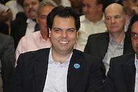 SÃO PAULO, SP, 09 DE MARÇO DE 2012 - POSSE DO SECRETARIO DE EMPREGOS E RELAÇAO DO TRABALHO - o secretario do meio ambiente, Bruno Covas, de  participa da cerimônia de posse do novo secretário de emprego e relações de trabalho Carlos Andreu Ortiz no Palacio dos Bandeirantes. FOTO: ADRIANA SPACA - BRAZIL PHOTO PRESS