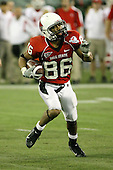 January 5th, 2008:  Ball State wide receiver Dante Love (86) looks to find an open lane during the fourth quarter of the International Bowl at the Rogers Centre in Toronto, Ontario Canada...Rutgers defeated Ball State 52-30.  ..Photo By:  Mike Janes Photography
