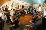 Old Time Fiddler's jam, Fiddletown, Calif.--jamming in the Osborn home