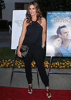 "HOLLYWOOD, LOS ANGELES, CA, USA - MAY 01: Cindy Crawford at the Los Angeles Premiere Of Lifetime Television's ""Return To Zero"" held at Paramount Studios on May 1, 2014 in Hollywood, Los Angeles, California, United States. (Photo by Xavier Collin/Celebrity Monitor)"
