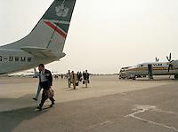 Juli 1994. Luchthaven van Deurne.