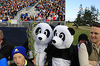 Pandas watch the action at the 7th hole during Saturday Morning's Fourball Matches between Europe's Lee Westwood and Jamie Donaldson and USA's Hunter Mahan and Jim Furyk of the Ryder Cup 2014 played on the PGA Centenary Course at the Gleneagles Hotel, Auchterarder, Scotland.: Picture Eoin Clarke, www.golffile.ie: 27th September 2014