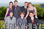 GOOD TIME: Enjoying a good time at the ISK debs at the Ballyroe Heights hotel, Tralee on Thursday front l-r: Kieran Lythgoe, Gavin Leane and David O'Shea. Back l-r: Chanice Fitzpatrick, Daniel Perkins, Dane Fitzgerald and Amy Kelly.