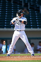 Mesa Solar Sox shortstop Daniel Robertson (26) at bat during an Arizona Fall League game against the Scottsdale Scorpions on October 19, 2015 at Sloan Park in Mesa, Arizona.  Scottsdale defeated Mesa 10-6.  (Mike Janes/Four Seam Images)