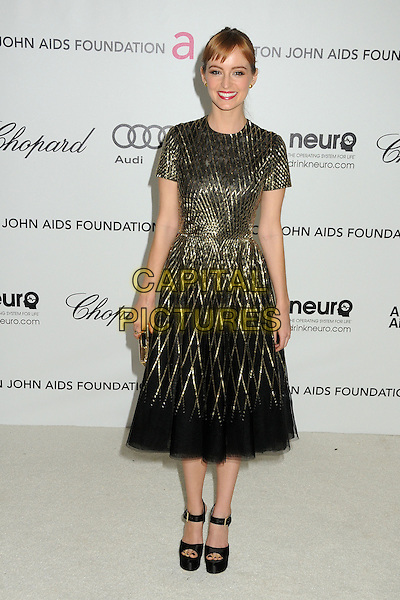 Ahna O'Reilly.20th Annual Elton John Academy Awards Viewing Party held at West Hollywood Park, West Hollywood, California, USA..February 26th, 2012.full length dress black gold  oscars.CAP/ADM/BP.©Byron Purvis/AdMedia/Capital Pictures.