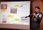 December 1, 2016, Tokyo, Japan - Japanese space travel venture PD Aerospace president Syuji Ogawa announces Japanese travel agency H.I.S. and ANA Holdings will make capital and business tie-up with PD Aerospace at a press conference in Tokyo on Thursday, December 1, 2016. PD Aerospace is expecting to launch space travel service with other two companies in 2023.  (Photo by Yoshio Tsunoda/AFLO) LWX -ytd-