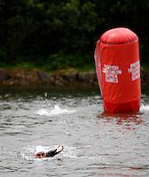 Photo: Richard Lane/Richard Lane Photography. British Triathlon Super Series, Parc Bryn Bach. 18/07/2009. .Swimming during the Women's Elite Race transition area.