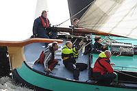 SKUTSJESILEN: LANGWEER: Langwarder Wielen, 13-04-2013, Skûtsjesilen Langwar, Robert de Jong (De Frisia | Lemmer), ©foto Martin de Jong