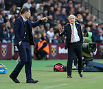 Stoke's Mark Hughes apologieses to West Ham's Slaven Bilic during the Premier League match at the London Stadium, London. Picture date November 5th, 2016 Pic David Klein/Sportimage