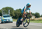 SITTARD, NETHERLANDS - AUGUST 16: Ruslan Tleubayev of Kazakhstan riding for Astana Pro Team competes during stage 5 of the Eneco Tour 2013, a 13km individual time trial from Sittard to Geleen, on August 16, 2013 in Sittard, Netherlands. (Photo by Dirk Markgraf/www.265-images.com)