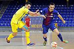League LNFS 2017/2018 - Game 15.<br /> FC Barcelona Lassa vs Gran Canaria FS: 9-2.<br /> Ivan Gonfaus vs Dyego.