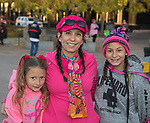 Mikaela, Mia and Melina during the Susan G. Koman Race for the Cure in Reno, Nevada on Sunday, October 15, 2017.