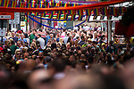 © Joel Goodman - 07973 332324 . 24 August 2013 . GV general view of Canal Street packed with people during 2013 Pride . Photo credit : Joel Goodman