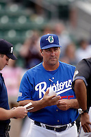 Damon Berryhill - manager of the Ogden Raptors (2009 Pioneer League)..Photo by:  Bill Mitchell/Four Seam Images..