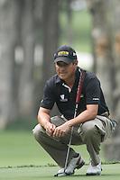 Adilson Da Silva (BRA) on the 4th green during Round 2 of the UBS Hong Kong Open 2012, Hong Kong Golf Club, Fanling, Hong Kong. 16/11/12...(Photo Jenny Matthews/www.golffile.ie)