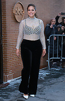 NEW YORK, NY - JANUARY 9: Ashley Graham at The View promoting the new season of America's Next Top Model in New York City on January 9, 2018.<br /> CAP/MPI/RW<br /> &copy;RW/MPI/Capital Pictures