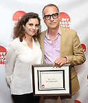 Rania Ajami and Rami Ajami attends the 2019 Off Broadway Alliance Awards Reception at Sardi's on June 18, 2019 in New York City.