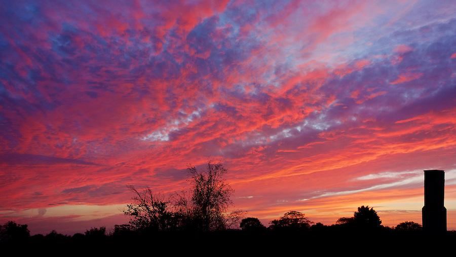 Sunset At Le Clos De La Chasse, St Saviour, Jersey.