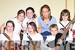 Playing at the Slive Mish Concert in Castlemaine Community Hall on Saturday evening was front row l-r: Katie Foley Inch, Amy Barrett Camp, Michael O'Shea Farranfore. Back row: Rhianne Gallagher Currow, Megan Fitzgerald Currow, Brid O'Shea Farranfore and Philip Lyons Farranfore   Copyright Kerry's Eye 2008