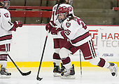 Sydney Daniels (Harvard - 25) is announced as a starter. - The Harvard University Crimson defeated the visiting Boston University Terriers 3-1 on Friday, November 22, 2013, at Bright-Landry Hockey Center in Cambridge, Massachusetts.