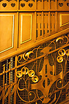 Interior architectural details in Municipal House (Czech: Obecni Dum), a stunning art nouveau landmark civic building in Prague, Czech Republic