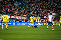 Atletico de Madrid´s (Player) and Villarreal´s (Player) during 2014-15 La Liga match between Atletico de Madrid and Villarreal at Vicente Calderon stadium in Madrid, Spain. December 14, 2014. (ALTERPHOTOS/Luis Fernandez) /NortePhoto
