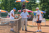Etten-Leur, The Netherlands, August 27, 2017,  TC Etten, NVK, Theo de Waal (NED) and Jack Leohart (NED) (R) in discussion with umpire<br /> Photo: Tennisimages/Henk Koster