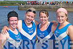 VICTORIOUS: Killorglin Rowing Club crew Caroline ORiordan, Katherine Morris, Sandra Wall and Nicole Mangan, who won the Senior Ladies race at Callinafercy Regatta last Sunday..