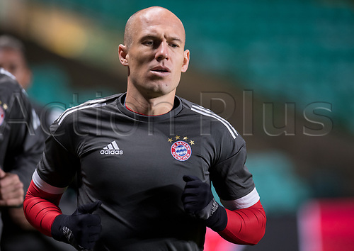30th October 2017; Glasgow, Scotland;  Arjen Robben of FC Bayern Munich during a final training session at Celtic Park in Glasgow, Scotland, 30 October 2017. Munich will meet Celtic Glasgow in a Champions League group phase match on the 31 October 2017.