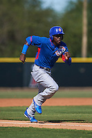 Chicago Cubs Frandy de la Rosa (55) during an instructional league game against the Arizona Diamondbacks on October 9, 2015 at the Tempe Diablo Stadium Complex in Tempe, Arizona.  (Mike Janes/Four Seam Images)