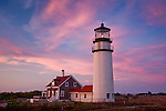 Sunset at Highland (Cape Cod) Light, Truro, Cape Cod, MA