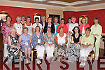PRIZES: The Ballybeggan Ladies Golfing Society held their Captains Prize night at The Meadowlands Hotel, Tralee, on Saturday. Front l-r: Ann Cox, Maureen Scannell, Catherine Mitchell, Kathleen Houlihan (Ladies Captain), Mary Whelan (Lady President), Sharon Cahill and Maureen A Scannell. Back l-r: Kay McNamara, Margaret Byrne, Breda Walshe, Kathleen Burrows, Eileen Baily, Geraldine O'Connor, Mary O'Sullivan, Imelda Slattery, Anne O'Driscoll, Mary T O'Sullivan, Marian Gunning, Mona Coote and Phyllis Mason..