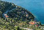 The Croatian coastline near Dubrovnik.