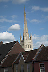 Cathedral spire, Norwich, Norfolk, England