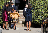 United States President Barack Obama, First Lady Michelle Obama and daughter Malia Obama depart St. John's Episcopal Church in Washington, D.C. following Easter Sunday services on April 8, 2012. .Credit: Kristoffer Tripplaar  / Pool via CNP