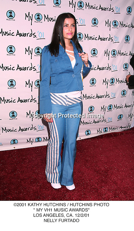 "©2001 KATHY HUTCHINS / HUTCHINS PHOTO."" MY VH1 MUSIC AWARDS"".LOS ANGELES, CA. 12/2/01.NELLY FURTADO"
