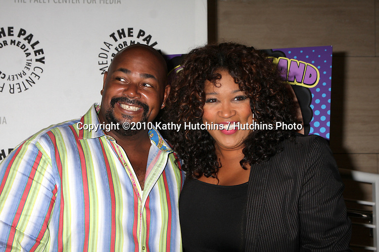 """LOS ANGELES - SEP 23:  Kevin Michael Richardson & Kym Whitley arrives at """"The Cleveland Show"""" DVD Release Party & Panel DIscussion  at Paley Center for Media on September 23, 2010 in Beverly Hills, CA"""