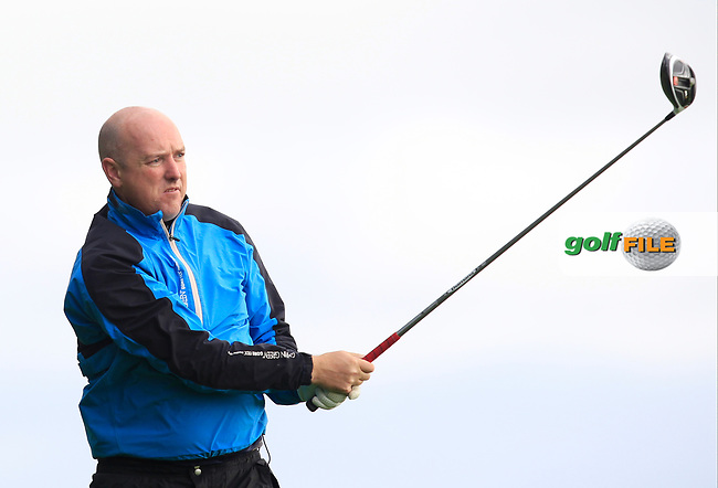 Joe Lyons (Galway) on the 13th tee during the AIG Senior Cup Semi-Finals of the AIG Cups &amp; Shields Finals at Carton House Golf Club, Maynooth, Co Kildare. 22/09/2017<br /> Picture: Golffile | Thos Caffrey<br /> <br /> <br /> All photo usage must carry mandatory copyright credit     (&copy; Golffile | Thos Caffrey)