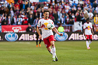 Heath Pearce (3) of the New York Red Bulls. The New York Red Bulls defeated the Philadelphia Union 2-1 during a Major League Soccer (MLS) match at Red Bull Arena in Harrison, NJ, on March 30, 2013.